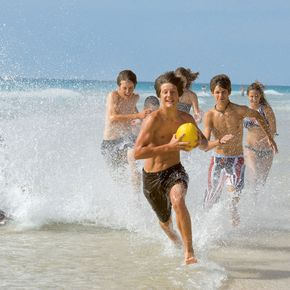 Spaß haben am Meer