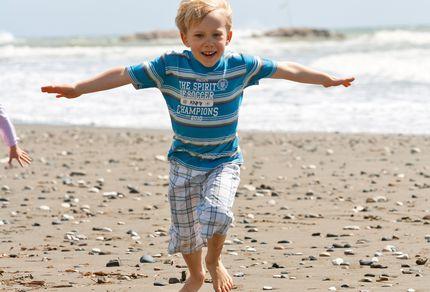 Kind am Strand im Aldiana Club Zypern