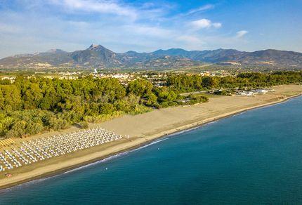 Strand im Aldiana Club Calabria von oben