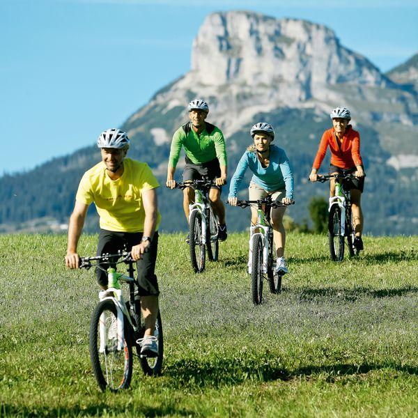 Rad fahren in den Bergen